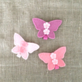 Butterfly hair clip, pink, accessory, flowers