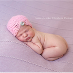 Newborn Vintage Beanie with Jewel / Mohair /  Photography Prop /