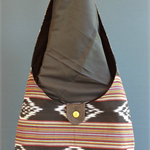Upcycled Fabric Hobo Bag