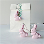 EASTER GIFT TAGS - handmade resin gift tags in bunny pink