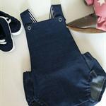 "Size 000 (0-3mths) - Unisex Summer Romper - ""o'l Denim"""