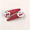 Red cherry fabric covered button snap clips