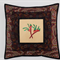 Australiana cushion cover - 'On Walkabout' (wine)