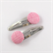 Pink fabric covered button snap clips