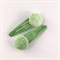 Green fabric covered button snap clips
