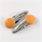 Orange fabric covered button snap clips
