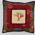 Australiana cushion cover - 'Bush Banana'