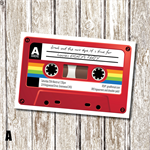 Mix Tape - 80's Themed Birthday Invitation - Personalised and Printable