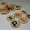 Teacher resource - SATPIN wooden discs - phonics learning aid - spelling