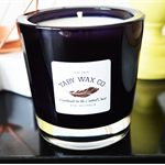 Soy Wax Candle, Fraser Beach, An Alluring Berry & Musk Scent, Large Black Glass