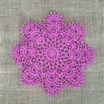 {New design} crochet doily, purple, teacher's gift, table decoration