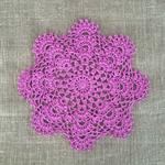 {New design} crochet doily, purple, teacher's gift, table decoration