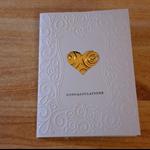 Handmade Australian Embossed Wedding Card.