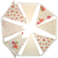 Floral & Spot Fabric Flag Bunting with Lace. High Tea, Birthday Party