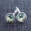 Vintage Swallows ~ Lever Back Earrings