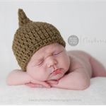 Sprout Hat / Olive Green / Newborn Photography Prop / Baby Boy / Acorn Hat