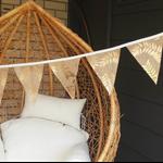 Bunting Garland, Engagement Banner, Engaged Garland, Bridal Shower Decor, Burlap