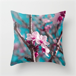 Pink Blossoms - Cushion Cover by Kitsmumma