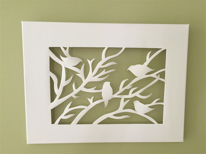 39 birds on branches 39 canvas art cut out island scents soy Design patterns wall painting