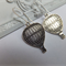 Antique Silver Hot Air Balloon Earrings