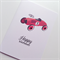 Happy Birthday boy red vintage car sports friend son him card