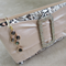 Ladies Clutch - Leopard print with Silk Sash and Glittering Buckle
