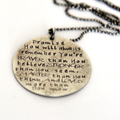 Hand Stamped Quote Jewellery, Graduation Gift, Inspiration Jewellery, Braver