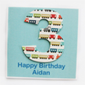 Any Age Custom Birthday card children kids custom trains 1 2 3 4 5 6 7 8 9 10