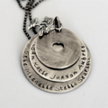 Personalised Necklace For Mum, Family Tree Jewellery, Hand Stamped Necklace Mum