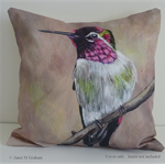 Cushion Cover, Hummingbird,  Bird Wildlife, Colourful, Throw Pillow, Decorative
