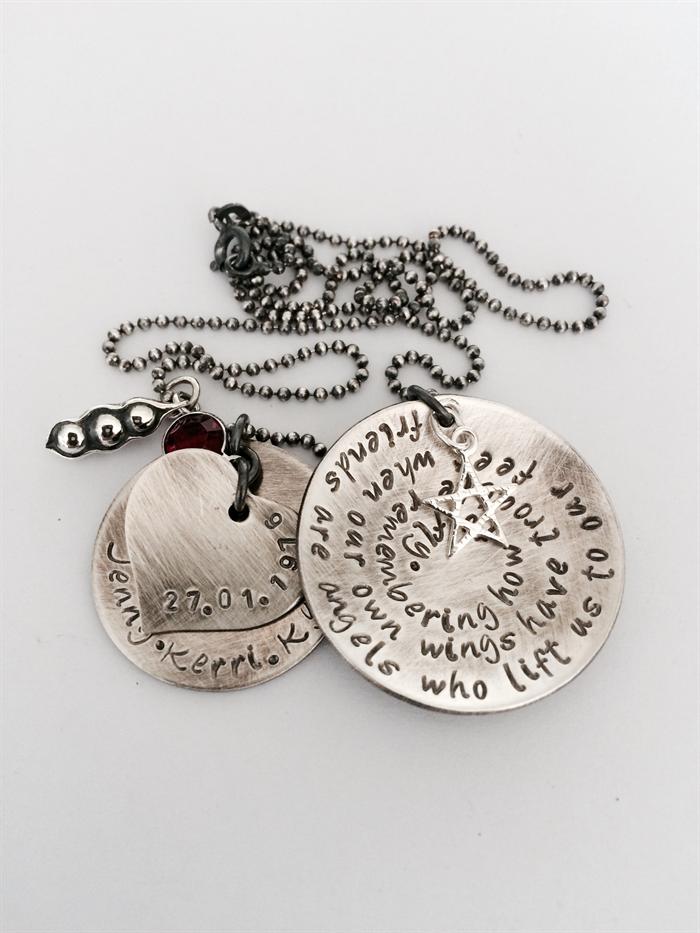 Friendship Necklace Best Friend Jewellery Peas In A Pod