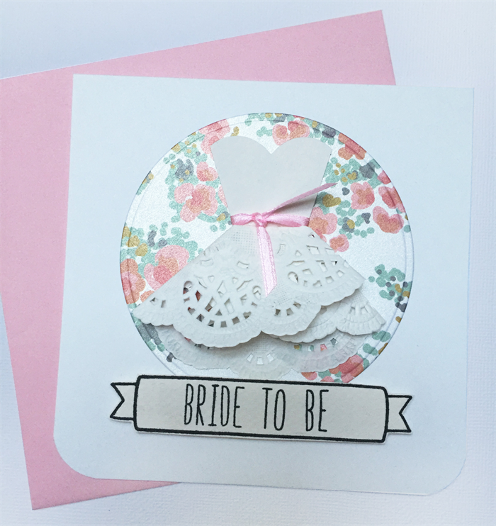 kitchen tea bride to be bridal shower handmade card