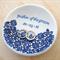 Personalised ring dish, ring bowl. Engagement gift, wedding gift. Ceramic bowl.