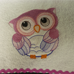 Babies Embroidered Towelling Bibs- Cute Owl  1-5