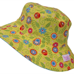 Toddler Hat ~ Yellow Floral ~ 48cm - Wide Brim