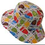 Toddler Hat ~ Urban Zoology Owls ~ 48cm - Wide Brim