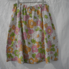 Upcycled Vintage Cotton Skirt ~ Size M