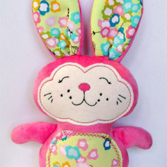 Pink Minky Easter Bunny
