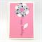 Birthday Card - Script Stem, Large flower