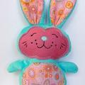Aqua Minky Easter Bunny