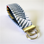 Wrist Key Fob - Grey & White Spikes with arrows