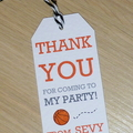 CUSTOM LISTING FOR MICHELLE - Thank you gift tags - basketball