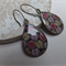 Lilac Mulberry and Lemon Leaf Print Earrings
