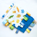 LAST ONE * BLUE JUNGLE SAFARI Baby Security Blanket Taggie /Taggy Toy Comforter