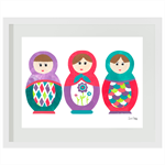 Babushkas #1 Print, Art prints for kids, Nursery wall art, Kids bedroom decor