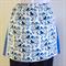Half Apron Blue - Retro Cottage Chic women's apron -  lined cotton apron