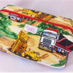 Trucks & Diggers - Retreat Bag - Toys / Nappy / Craft / Pencil Case / Toiletries