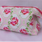 Pink Floral - Retreat Bag - Toiletries / Make-up / Toys / Craft / Pencil Case