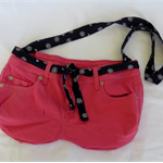 Pink and Blue Jeans Tote