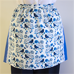Half Apron Blue - Retro Cottage Chic women's apron -  lined cotton apron